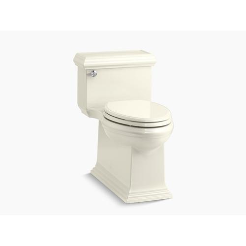 Biscuit One-piece Compact Elongated 1.28 Gpf Chair Height Toilet With Slow Close Seat