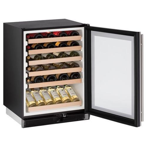 "U-Line - 1024wc 24"" Wine Refrigerator With Stainless Frame Finish (115 V/60 Hz Volts /60 Hz Hz)"