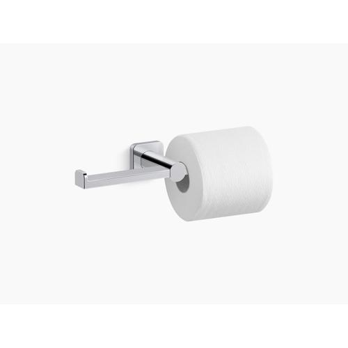 Vibrant Brushed Nickel Double Toilet Paper Holder