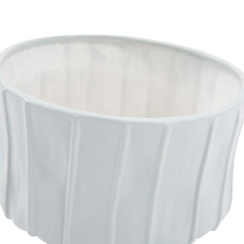 Howard Elliott - Robin's Egg Blue Ribbed Ceramic Bowl