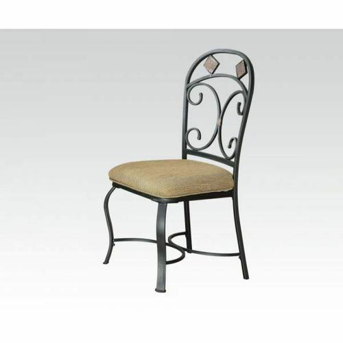 Acme Furniture Inc - ACME Kiele Side Chair (Set-2) - 71127 - Fabric & Black Antique