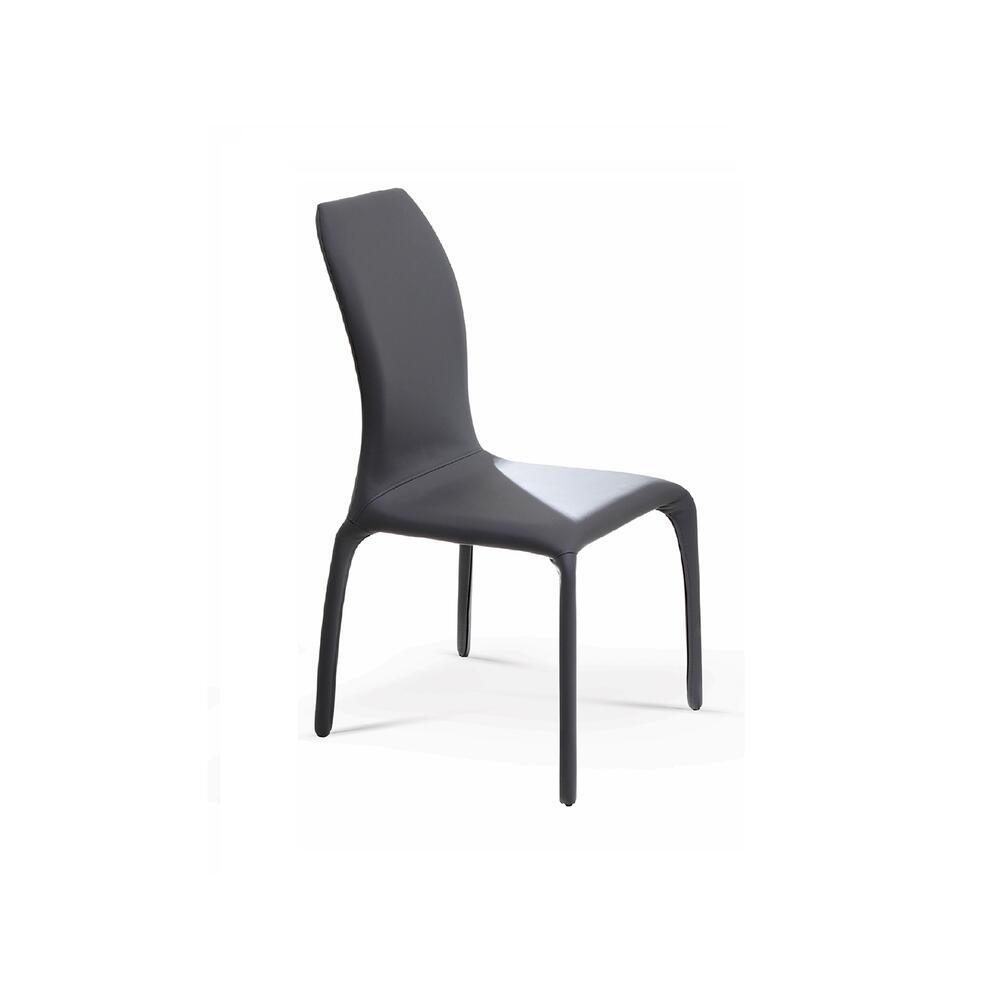 The Pulse Dark Gray Eco-leather Dining Chairs