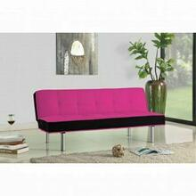 ACME Hailey Adjustable Sofa - 57137 - Magenta & Black Flannel