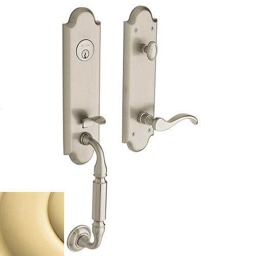 Non-Lacquered Brass Manchester Handleset