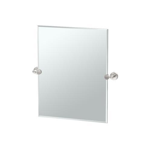 Glam Rectangle Mirror in Satin Nickel