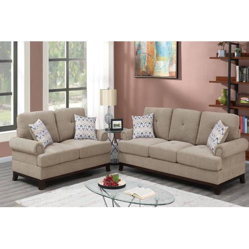 Poundex - 2-pcs Sofa Set