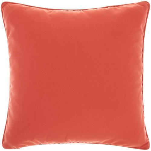 "Outdoor Pillows L9090 Coral 18"" X 18"" Throw Pillow"