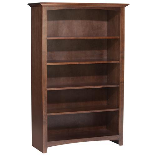 """Whittier Wood - CAF 60""""H x 36""""W McKenzie Alder Bookcase"""