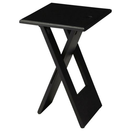 Whimsical, versatile and fun! This folding table is designed to snuggle into a small spot for a brief visit or a long stay. Folds easily for compact storage. Crafted from Mango wood solids. Finished in deep black.