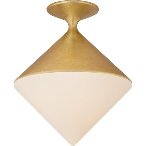 AERIN Sarnen LED 14 inch Gild Flush Mount Ceiling Light, Small