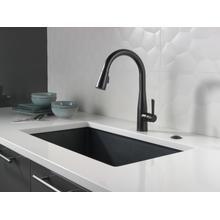 Matte Black Single Handle Pull-Down Kitchen Faucet