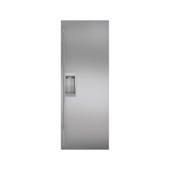 Sub-Zero - Stainless Steel Flush Inset Refrigerator Door Panel with Tubular Handle