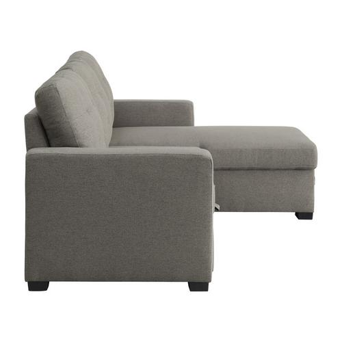 Gallery - 2-Piece Reversible Sectional with Pull-out Bed and Hidden Storage