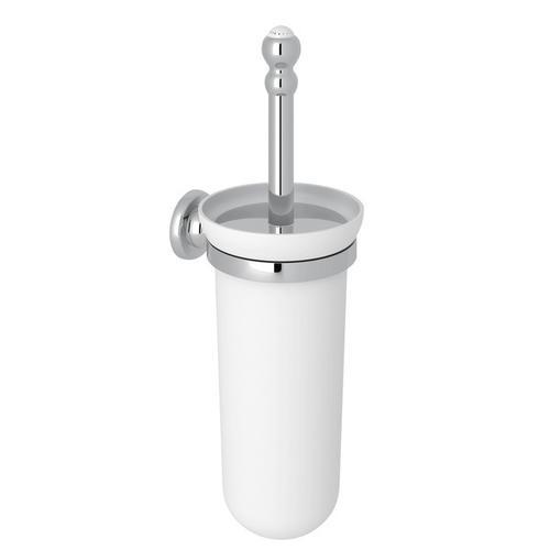 Polished Chrome Perrin & Rowe Wall Mount Toilet Brush Holder