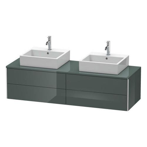 Vanity Unit For Console Wall-mounted, Dolomiti Gray High Gloss (lacquer)