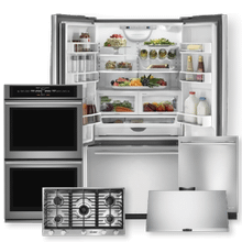 See Details - Stainless Steel French Door Refrigerator & Gas Cooktop 5 Piece Package- Open Box