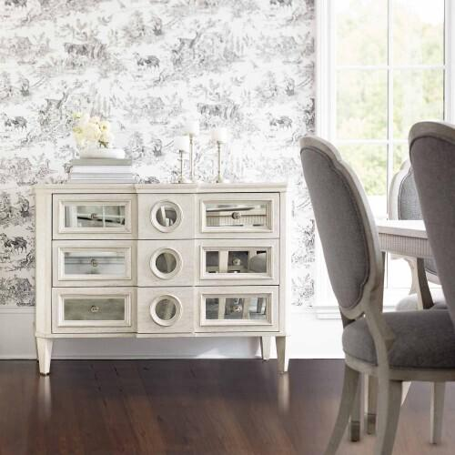 Product Image - Allure Side Chair in Manor White (399)