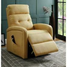 ACME Newat Recliner w/Power Lift - 59457 - Yellow Linen