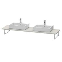 """Console For Above-counter Basin And Vanity Basin, Width Max. 78 3/4""""concrete Gray Matte (decor)"""