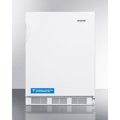 Product Image - ADA Compliant Built-in Undercounter All-refrigerator for General Purpose Use, With Flat Door Liner, Auto Defrost Operation and White Exterior