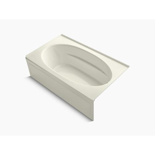 """Biscuit 72"""" X 42"""" Alcove Bath With Integral Apron and Right-hand Drain"""