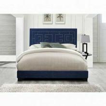 ACME Ishiko III Queen Bed - 21640Q - Dark Blue Velvet