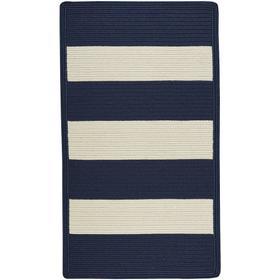 "Cabana Stripes Navy Blue White - Concentric Rectangle - 20"" x 30"""