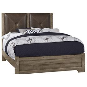 Leather Bed with Low Profile Footboard