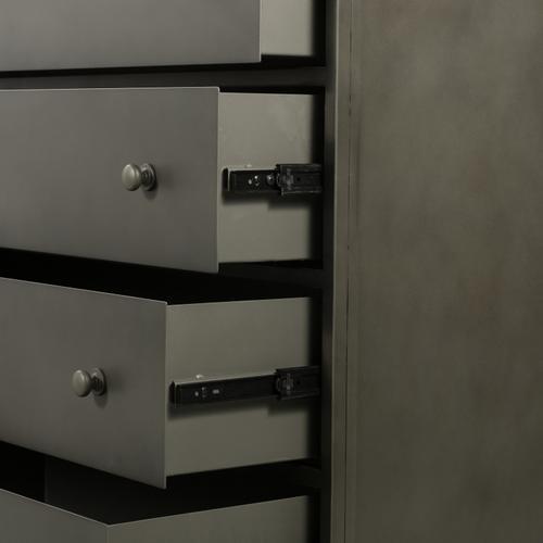 Gunmetal Finish Belmont 8 Drawer Metal Dresser