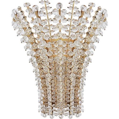 Visual Comfort - AERIN Serafina 2 Light 14 inch Hand-Rubbed Antique Brass Sconce Wall Light, Medium