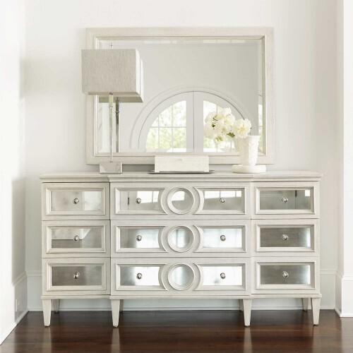 Gallery - Allure Mirror in Manor White (399)