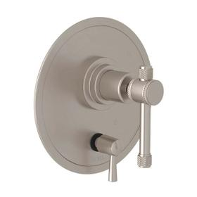 Campo Pressure Balance Trim with Diverter - Satin Nickel with Industrial Metal Lever Handle