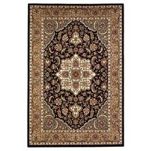 "Cambridge 7327 Black/beige Kashan Medallion 5'3"" X 7'7"""