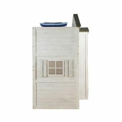 ACME Tree House Loft Bed (Twin Size) - 37165 - Weathered White & Washed Gray