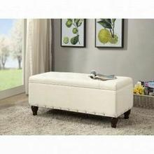 ACME Estee Bench w/Storage - 96439 - Cream PU