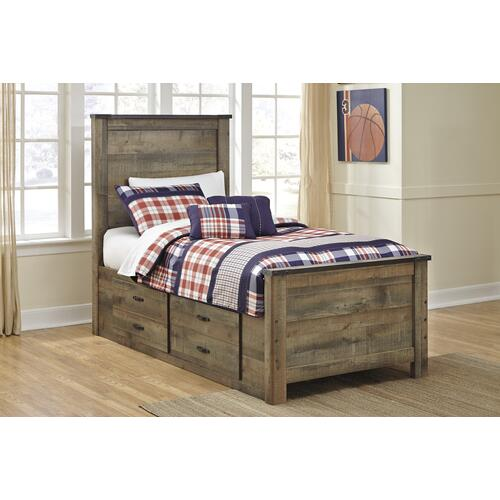 Trinell Twin Bed W/Under Bed Storage Brown