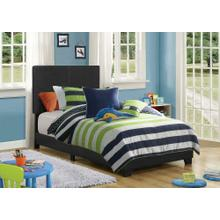 Product Image - Dorian Black Faux Leather Upholstered Twin Bed
