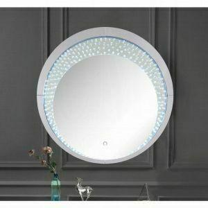 ACME Nysa Wall Decor (LED) - 97590 - Mirrored & Faux Crystals