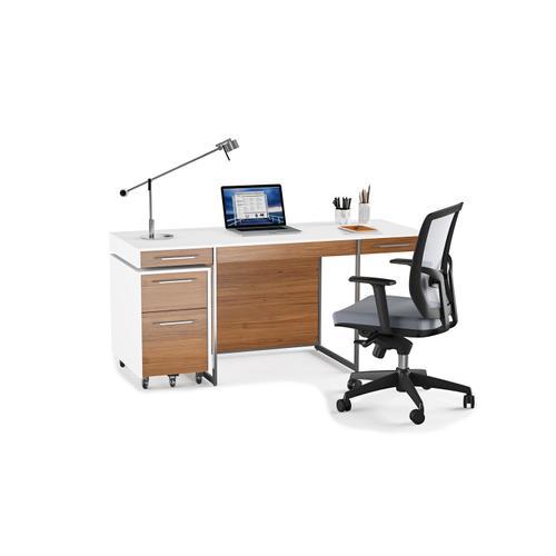 BDI Furniture - Format 6307 Mobile File Pedestal in Natural Walnut Satin White