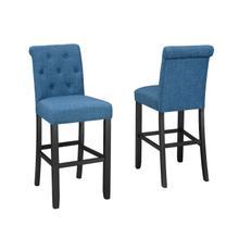 See Details - Tinga 24'' Barstool W/blue Fabric (bar Stool Set of 2 )