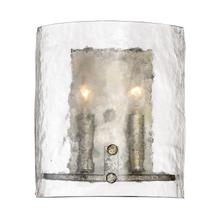 View Product - Fortress Wall Sconce in Mottled Silver