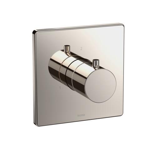 Three-way Diverter Trim - Square - Polished Nickel