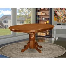 """Oval Table with 18"""" Butterfly leaf - Saddle Brown"""