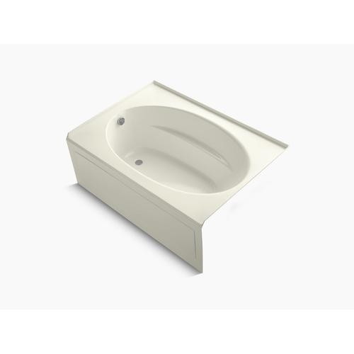 """Biscuit 60"""" X 42"""" Alcove Bath With Integral Apron and Left-hand Drain"""