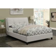 Amador Beige Upholstered King Platform Bed