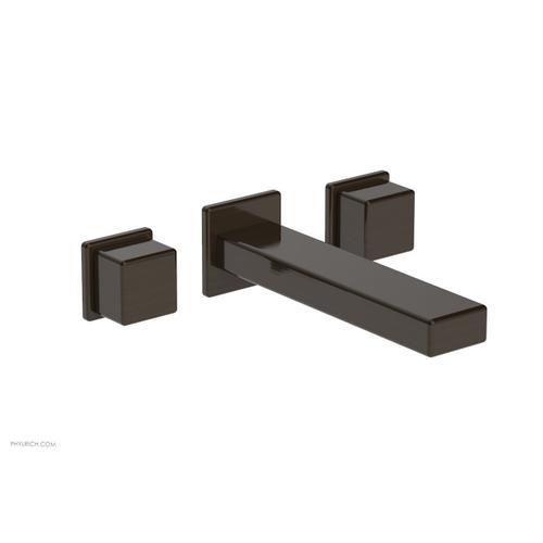 MIX Wall Lavatory Set - Cube Handles 290-14 - Antique Bronze