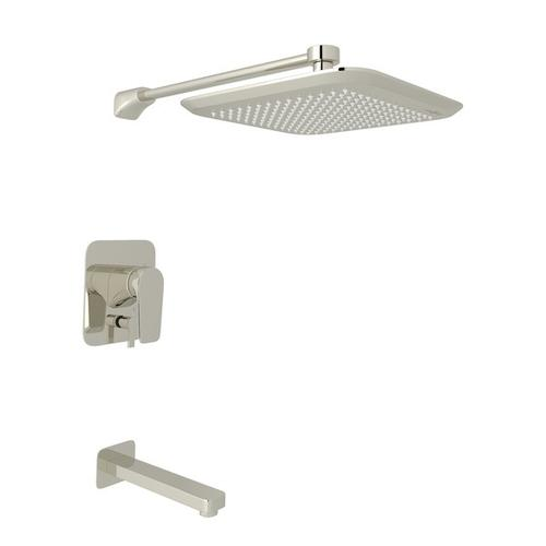 Polished Nickel Perrin & Rowe Hoxton Pressure Balance Shower Package with Hoxton Metal Lever