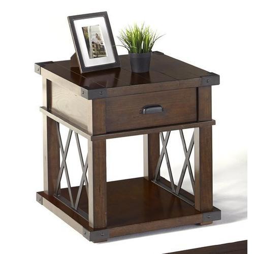 Rectangular End Table - Vintage Ash Finish
