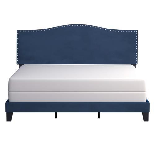 Hillsdale Furniture - Kiley Upholstered King Bed, Blue Velvet