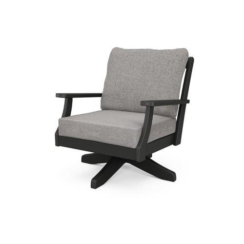 Black & Grey Mist Braxton Deep Seating Swivel Chair